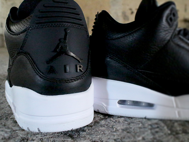 "NIKE AIR JORDAN 3 RETRO ""BLACK/BLACK WHITE""01"